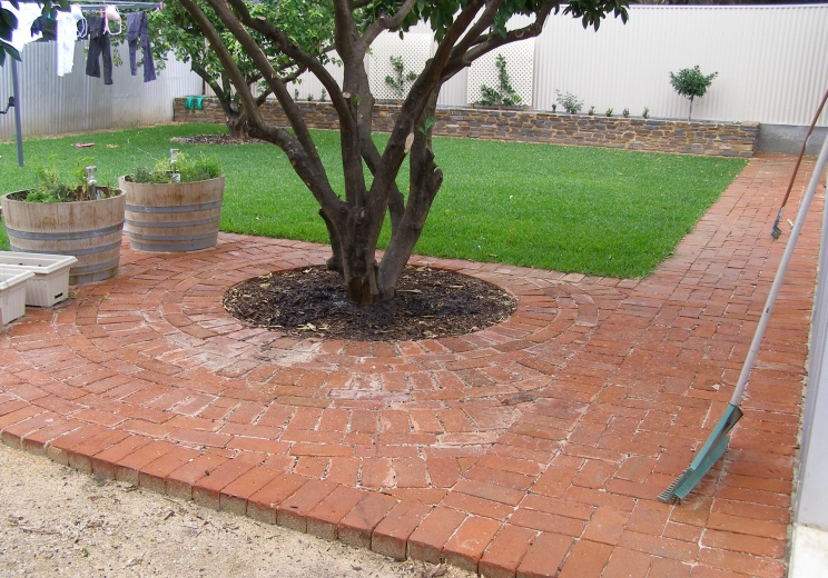 Old Red Brick Paving